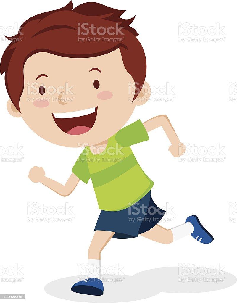 royalty free boy running clip art vector images illustrations rh istockphoto com clip art running of the bulls clipart running man