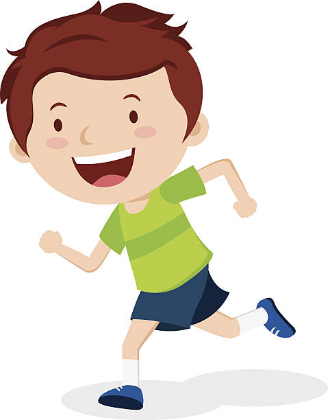 Royalty Free Children Running Clip Art, Vector Images ...