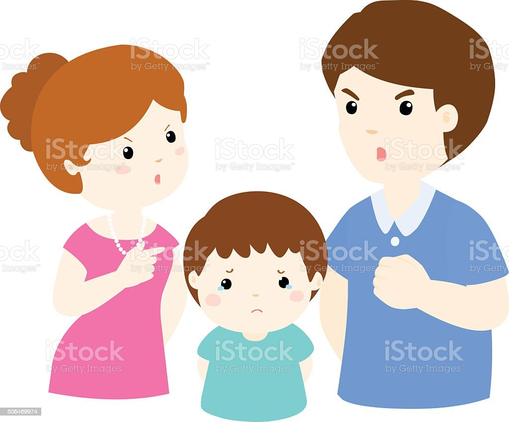 royalty free parents arguing clip art vector images