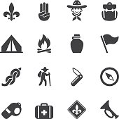 Boy Scout Silhouette icons| EPS10