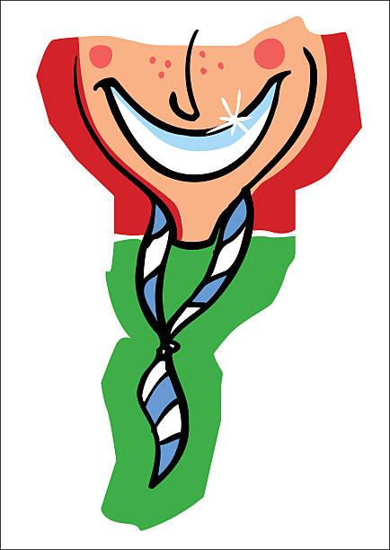Boy scout Sonriendo - ilustración de arte vectorial