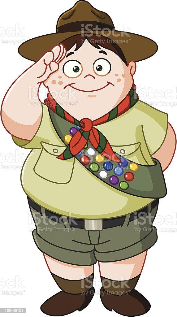Boy scout vector art illustration