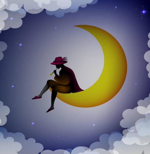 Resultado de imagen para niño mirando la luna animado