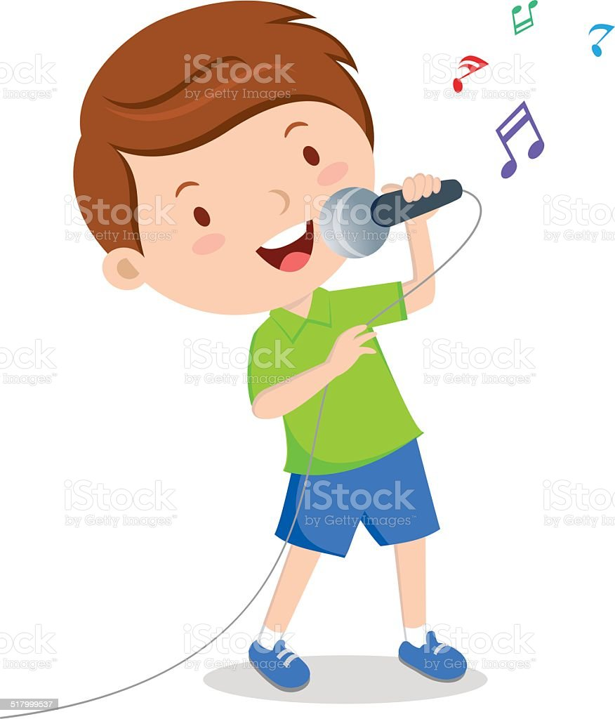 royalty free boy singing clip art vector images illustrations rh istockphoto com singing clipart clipart silhouette singing clipart black and white