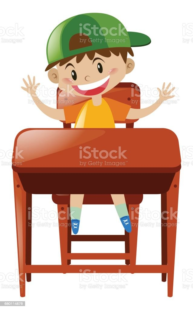royalty free student sitting at desk clipart pictures clip art rh istockphoto com
