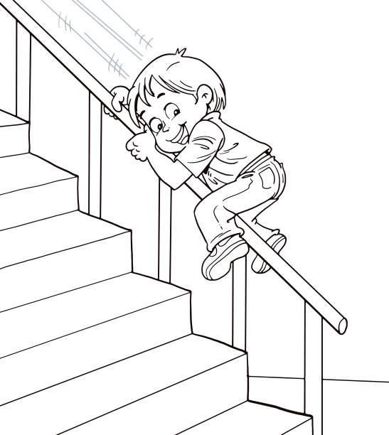 Best Stair Bannisters Illustrations, Royalty-Free Vector