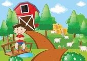 istock Boy smiling in the farm 680364316