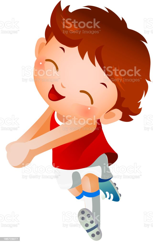 Boy sport player running royalty-free boy sport player running stock vector art & more images of attitude