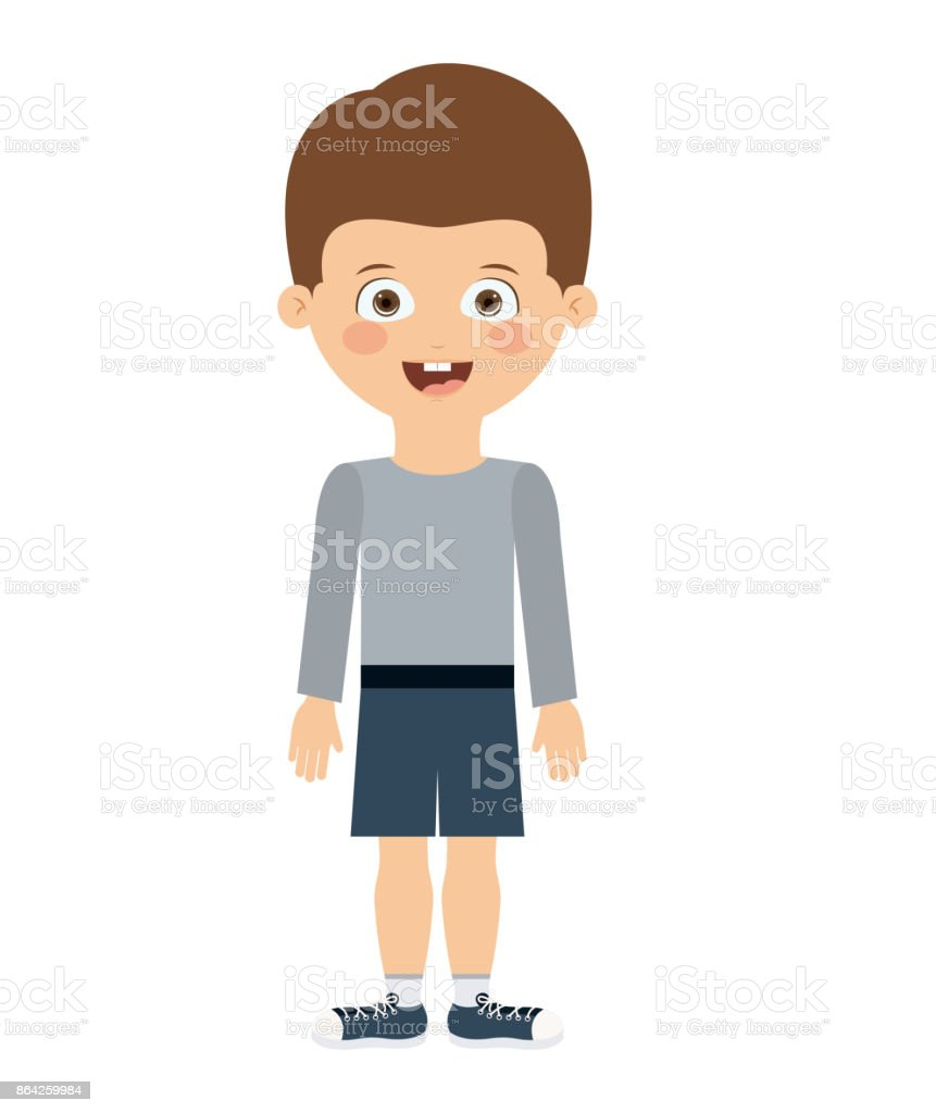 boy standing in front isolated icon design royalty-free boy standing in front isolated icon design stock vector art & more images of adult