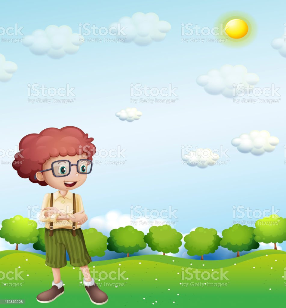 boy standing under the scorching heat of  sun royalty-free boy standing under the scorching heat of sun stock vector art & more images of adult