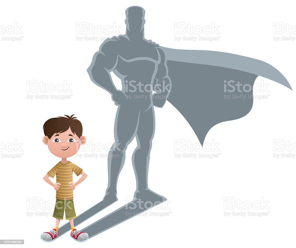 Boy Superhero Concept 2 vector art illustration