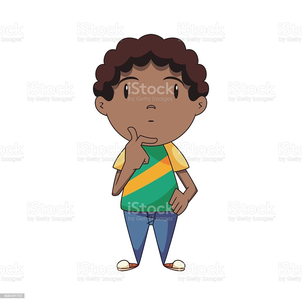 royalty free boy thinking clip art vector images illustrations rh istockphoto com boy and girl thinking clipart