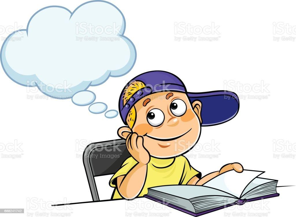 royalty free boy thinking clip art vector images illustrations rh istockphoto com thinking clipart png thinking clip art images