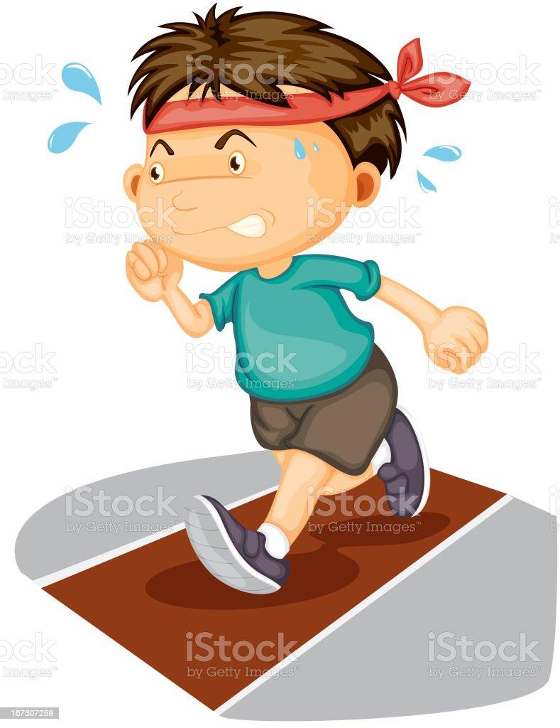 Boy vector art illustration