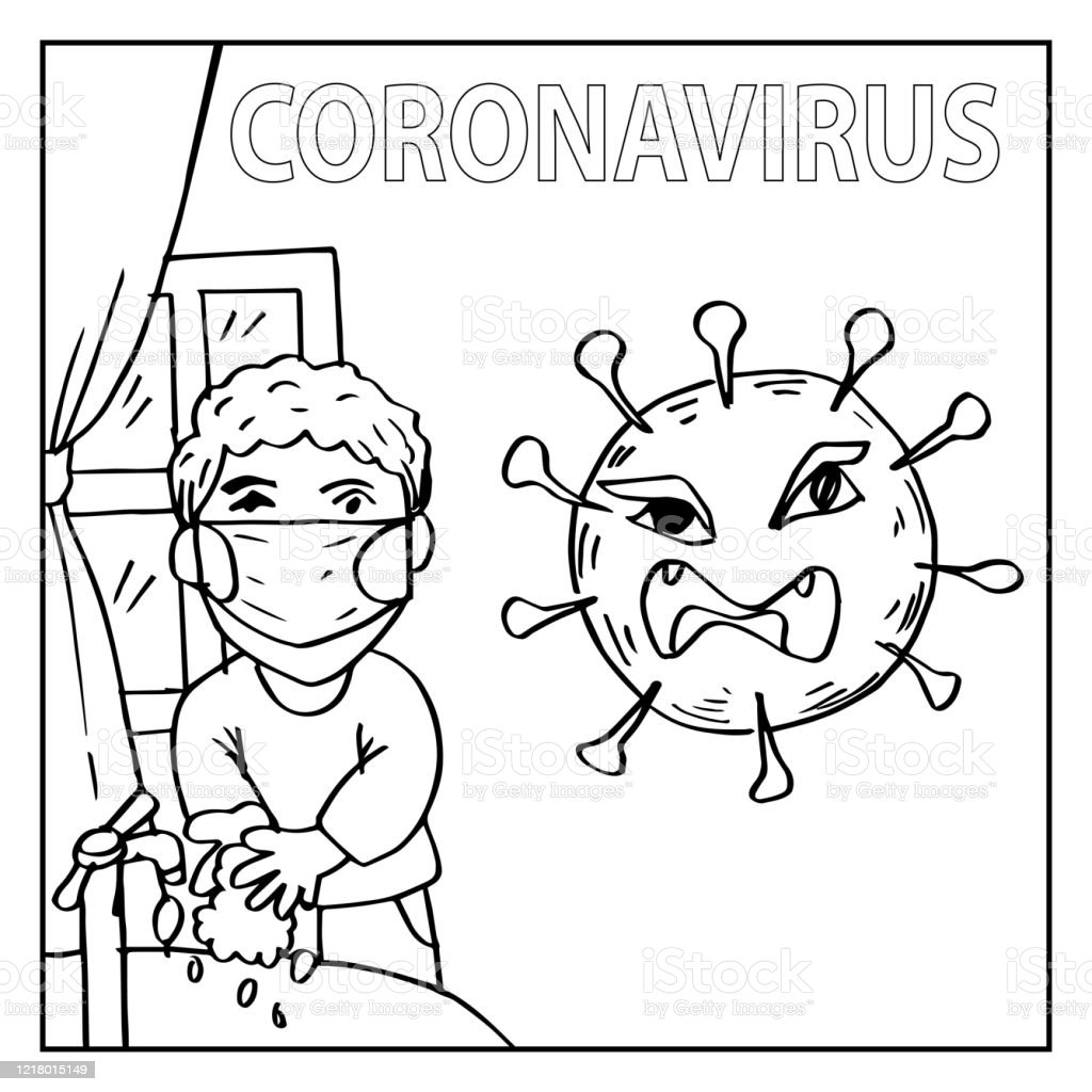 Vetores De Garoto Lavando A Mao Para Prevencao De Coronavirus Livro Para Colorir E Mais Imagens De Adulto Istock