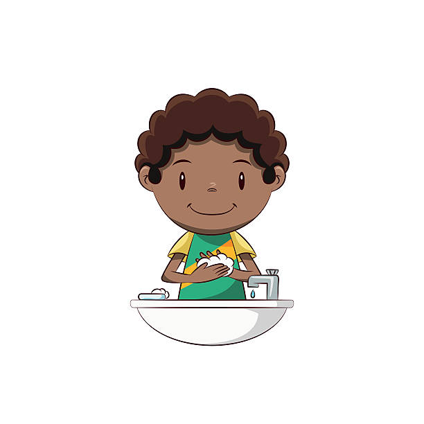 Best Kids Washing Hands Illustrations, Royalty-Free Vector ...
