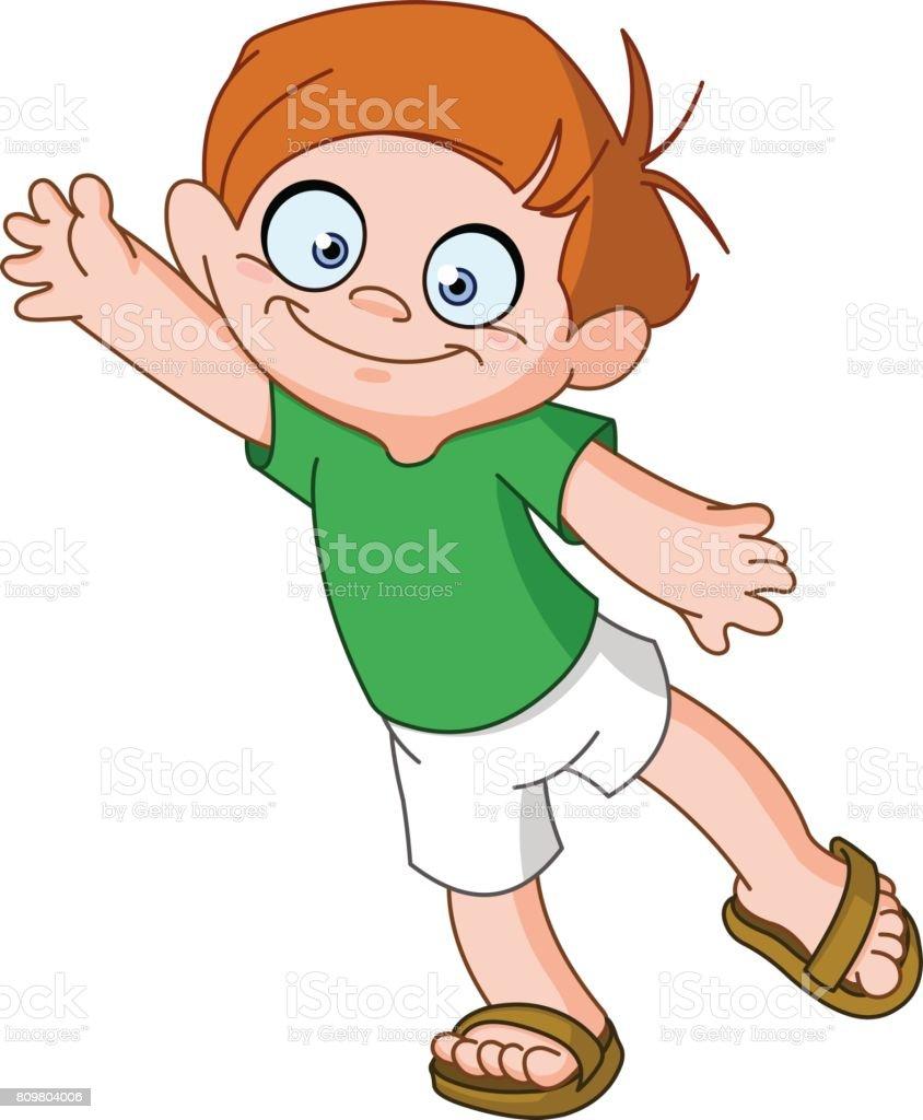 royalty free kids waving goodbye clip art vector images