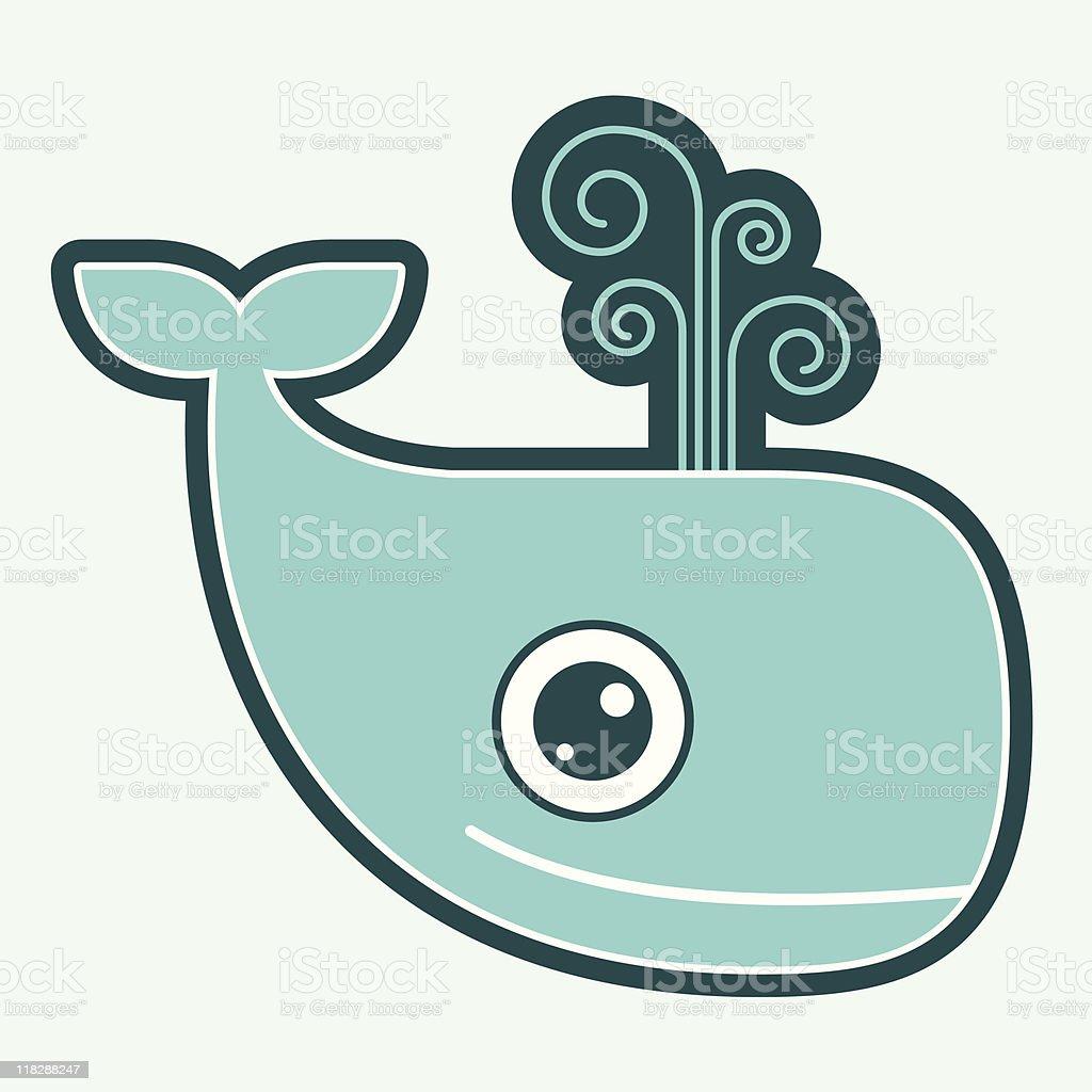 Boy Whale royalty-free stock vector art