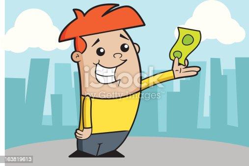 istock Boy with a bill 163819613