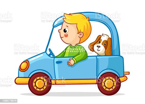 Boy with a dog in blue car vector illustration vector id1066278876?b=1&k=6&m=1066278876&s=612x612&h=7pmlbwxemqrqt ixsonjh e450amb9fu4a7zcoysrzu=