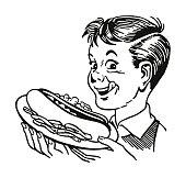 Boy with a Hot Dog