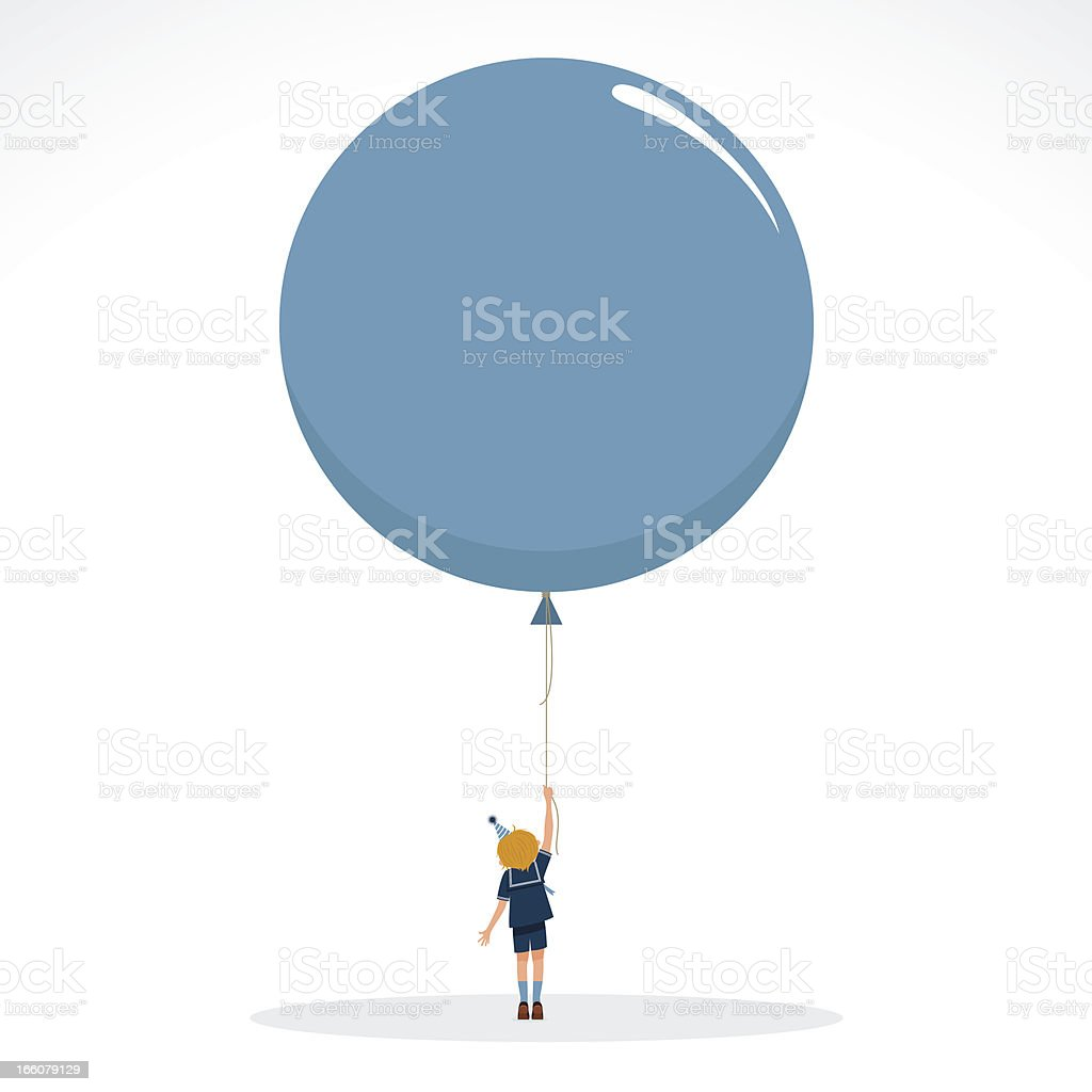 Boy with balloon happy birthday invitation vintage  party kids royalty-free boy with balloon happy birthday invitation vintage party kids stock vector art & more images of balloon