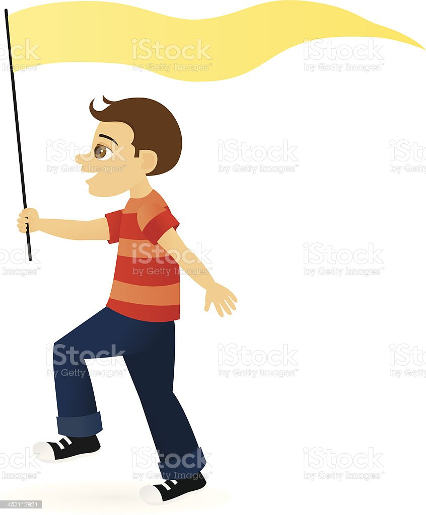 Boy With Banner royalty-free stock vector art