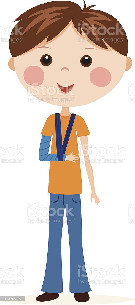 Boy with broken arm in plaster cast royalty-free boy with broken arm in plaster cast stock vector art & more images of arm sling
