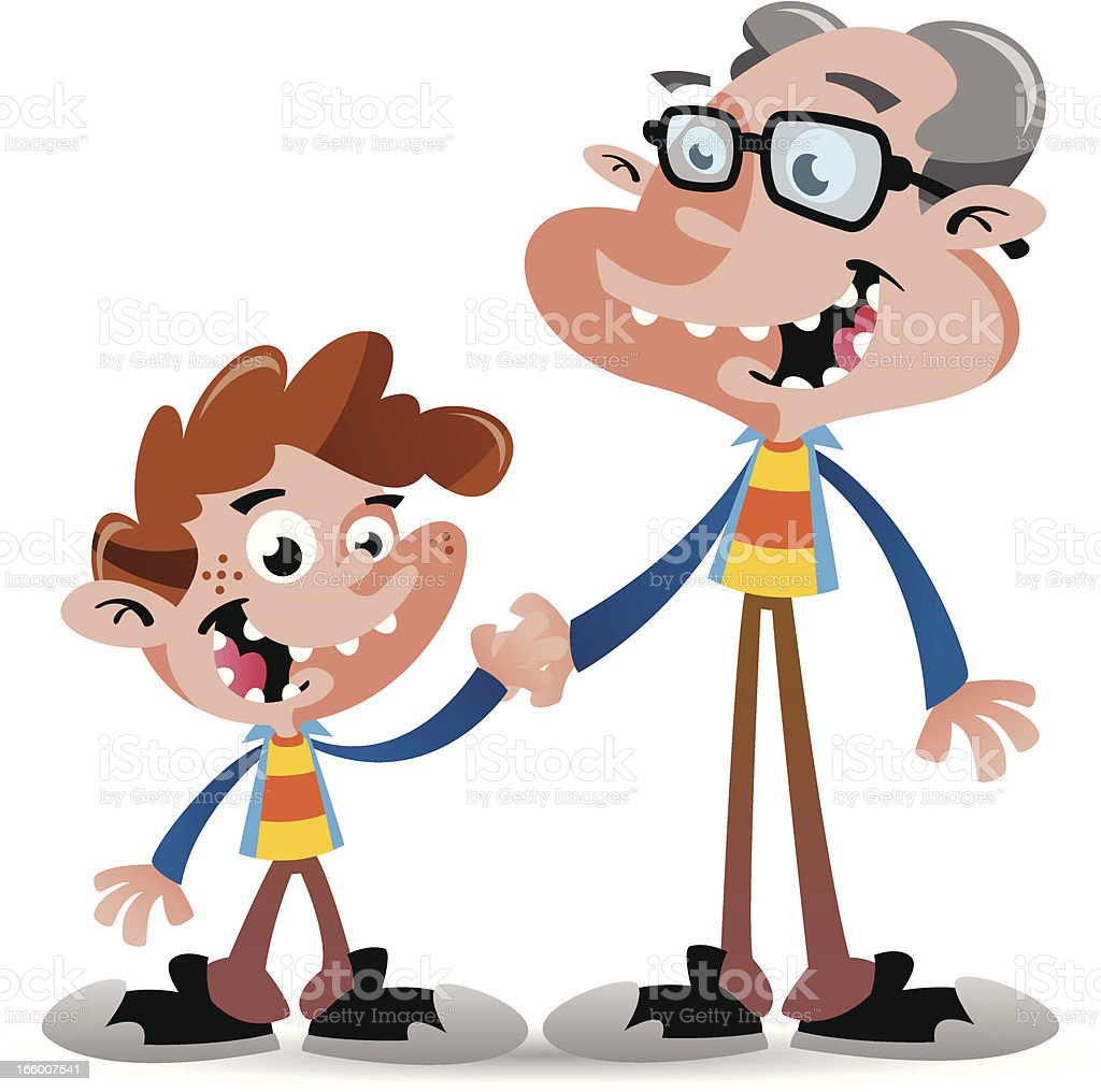 Boy with Grandpa royalty-free boy with grandpa stock vector art & more images of adult