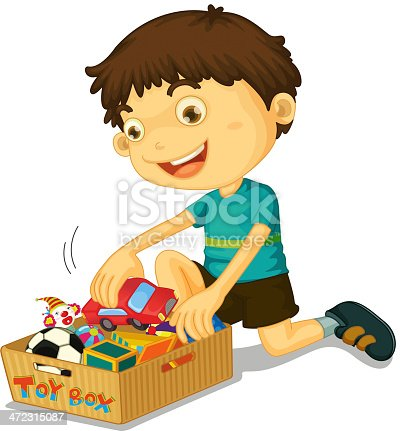 istock Boy with his toys 472315087