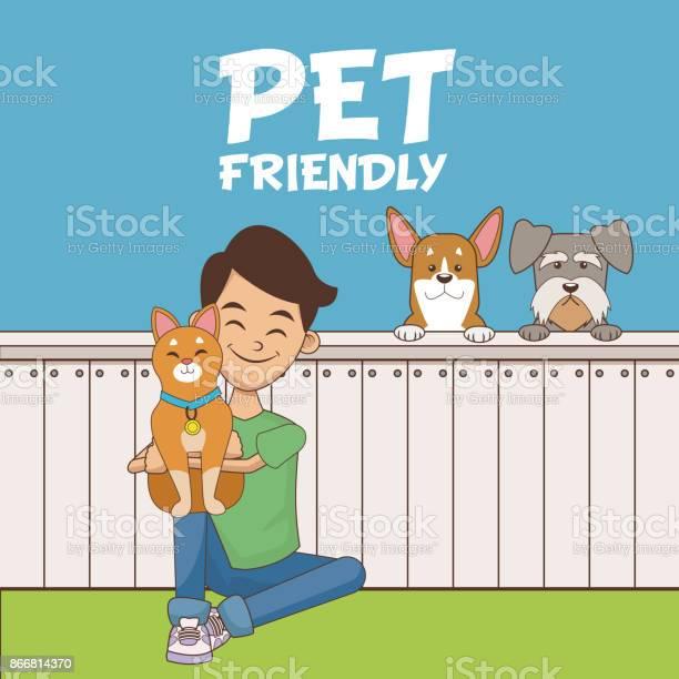 Boy with pets cartoon vector id866814370?b=1&k=6&m=866814370&s=612x612&h=40xlha24t hrrwcs5ll ft r7rar5cyfpl ntl3esjm=