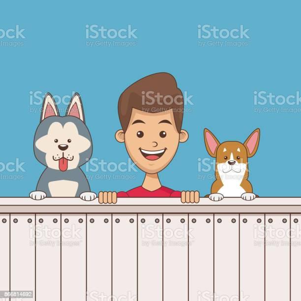 Boy with pets cartoon vector id866814692?b=1&k=6&m=866814692&s=612x612&h=u9hfndqvwtzxf6zsl8msb58hcq lfkzp9otnkakclco=