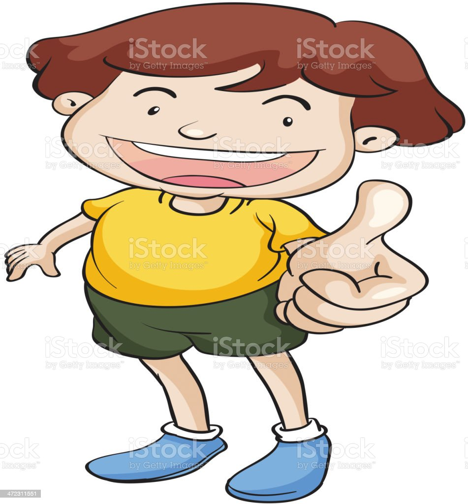 Boy with thumbs up royalty-free stock vector art