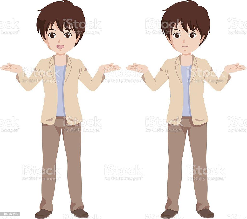boy_happy royalty-free stock vector art
