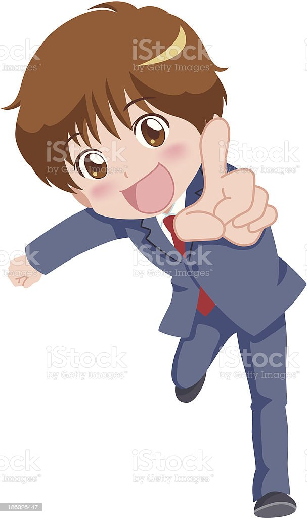 boy_pose royalty-free stock vector art