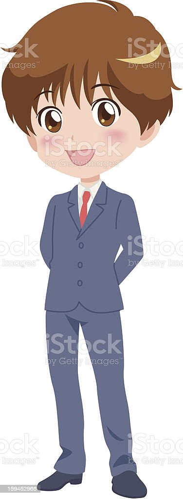 boy_smile royalty-free stock vector art