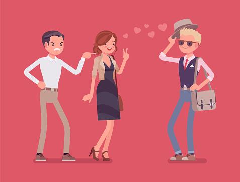 Jealous stock illustrations