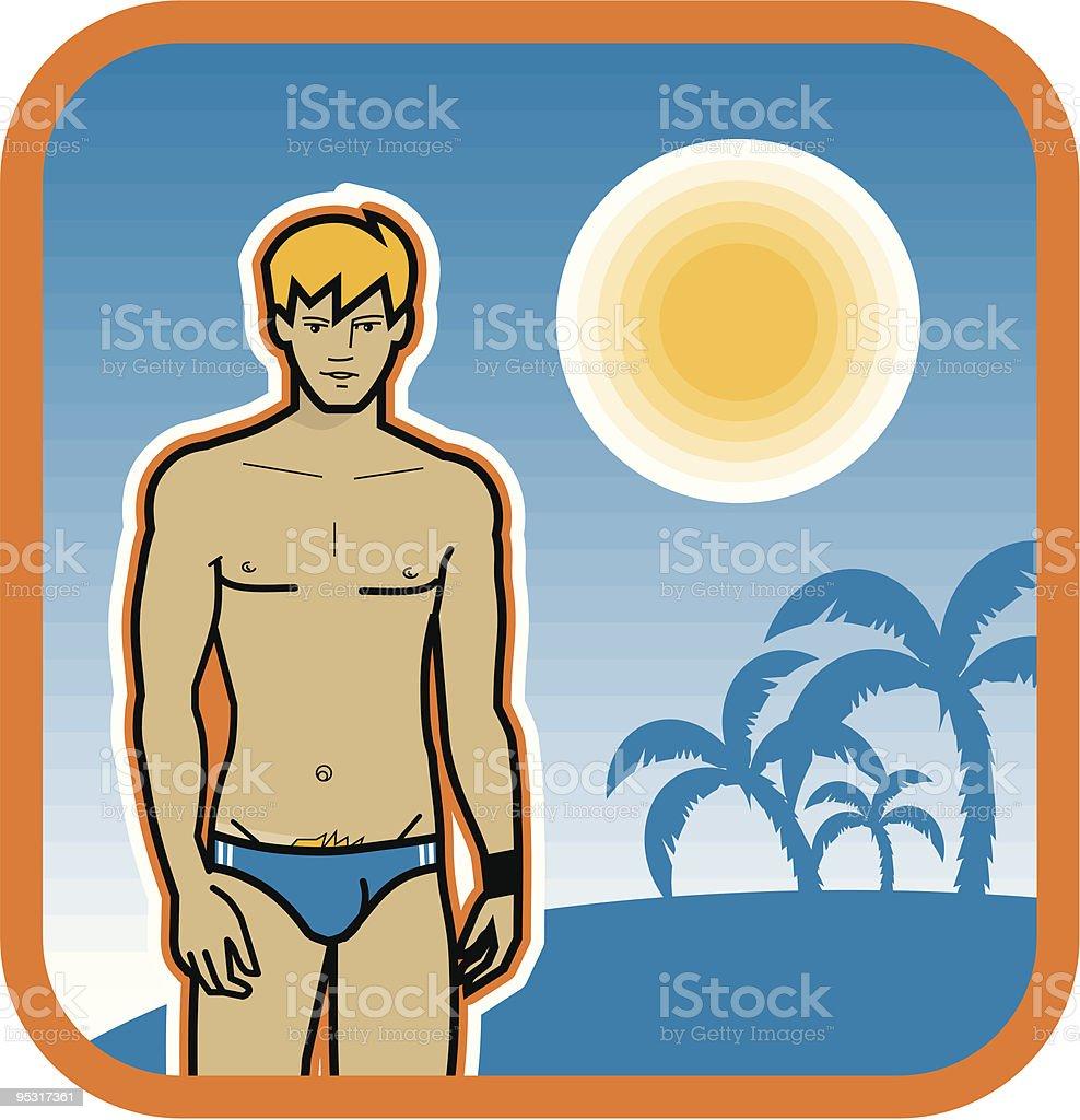 boys beach royalty-free stock vector art
