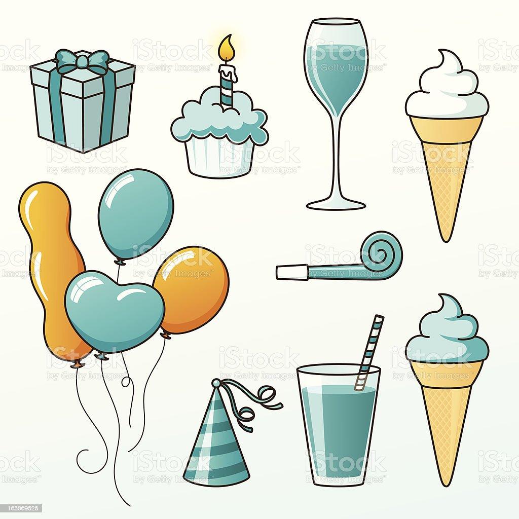 Boy's Birthday Party - incl. jpeg royalty-free stock vector art