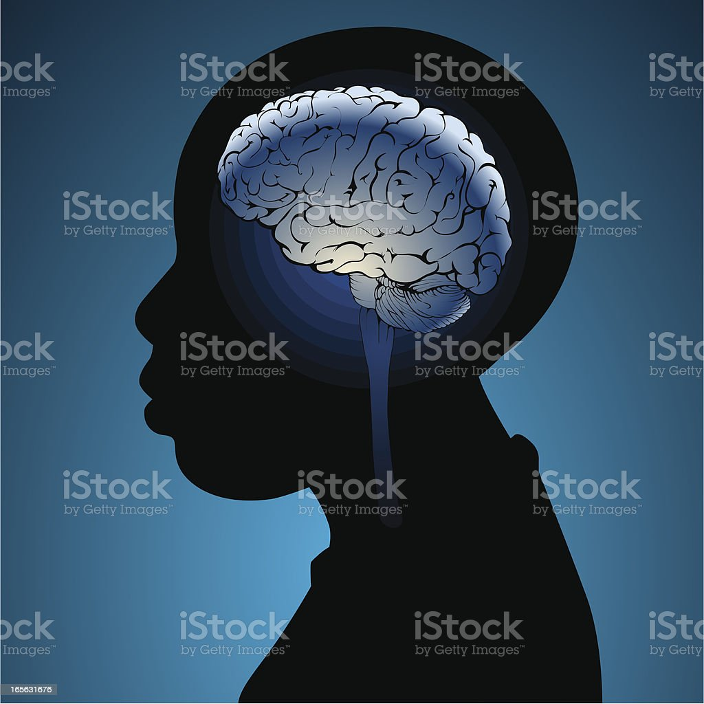 Boys brains vector art illustration
