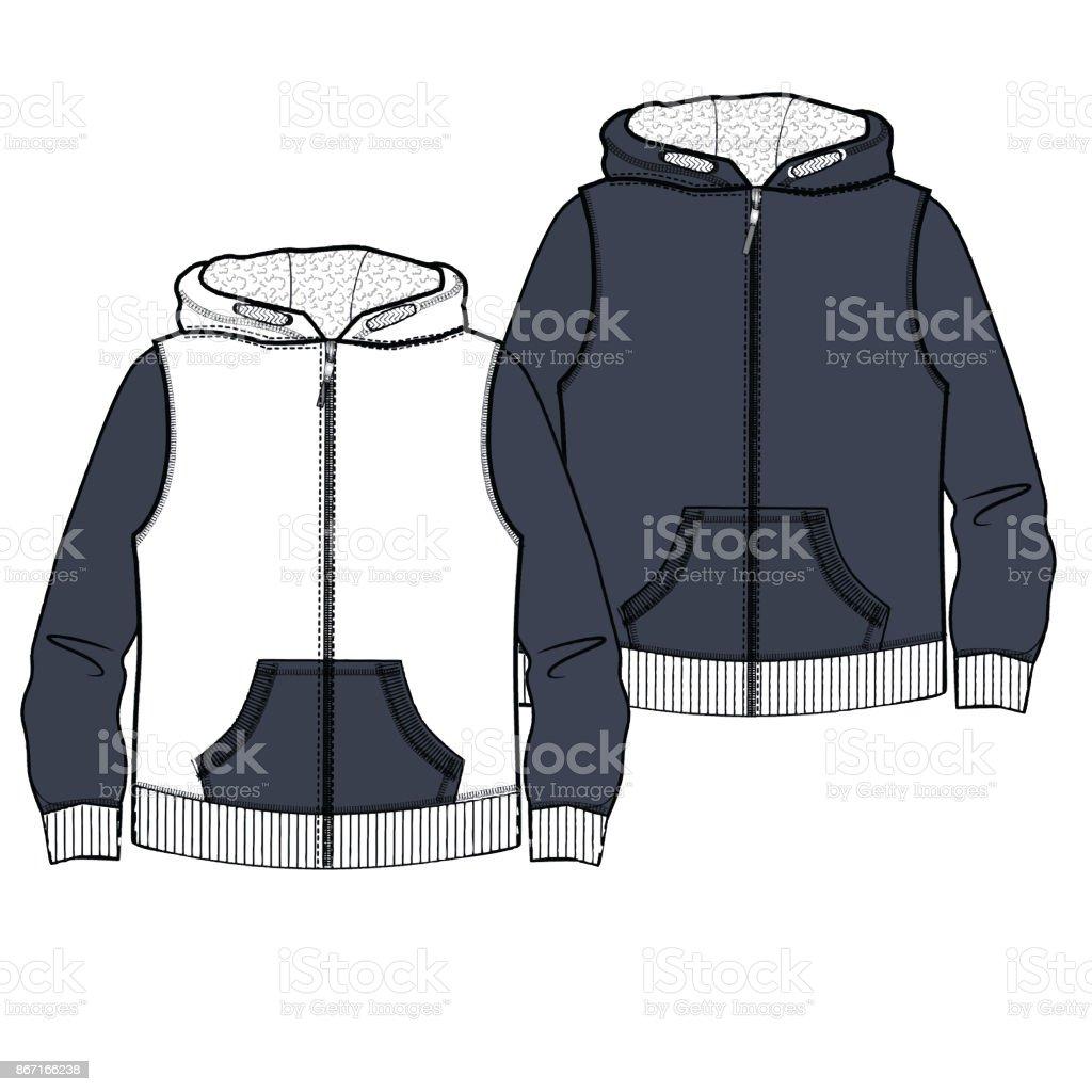 Jungen Kleidung Flache Skizze Vorlage Isoliert Stock Vektor Art und ...