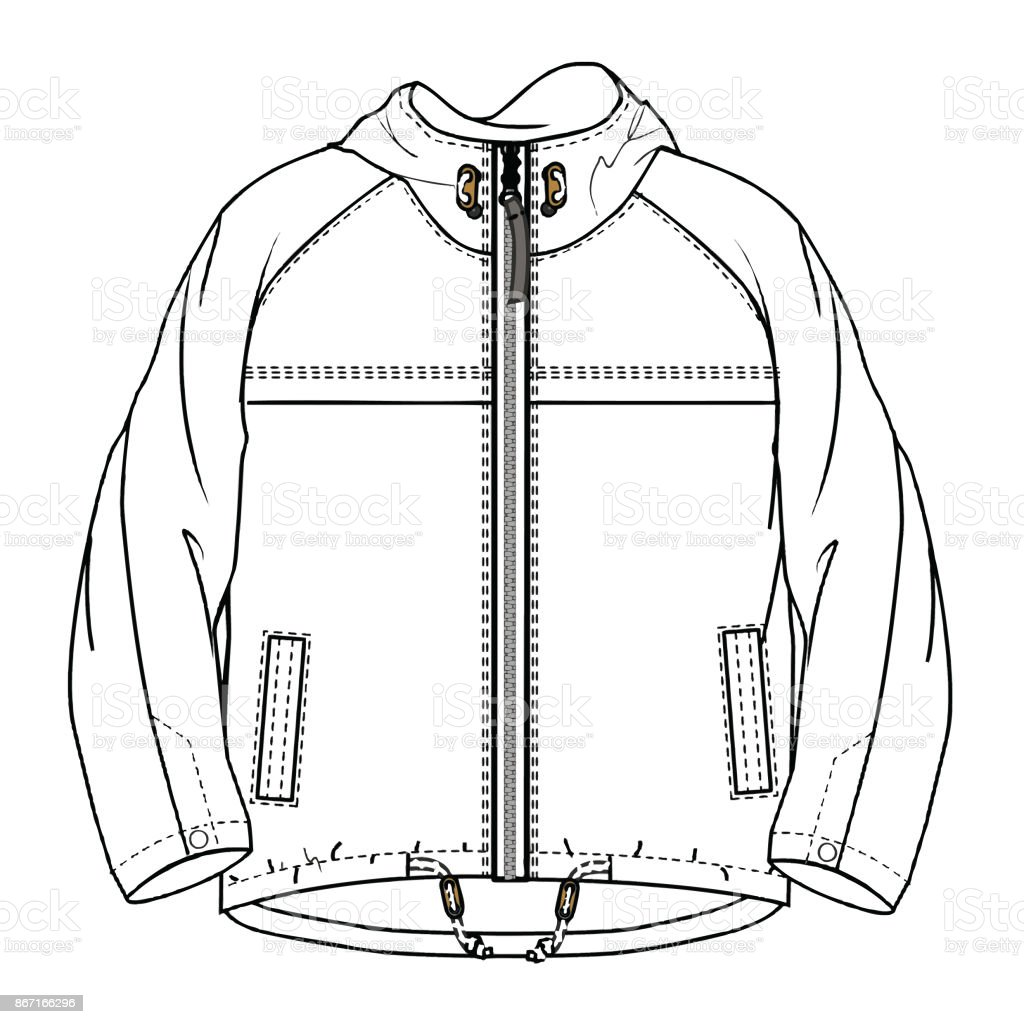 Boys Clothes Flat Sketch Template Isolated Stock Vector Art & More ...