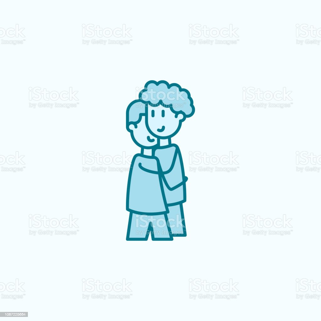 Boys Friends 2 Colored Line Icon Simple Colored Element Illustration Boys Friends Outline Symbol Design From Friendship Set Stock Illustration Download Image Now Istock