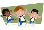 Boys on school holidays to have fun
