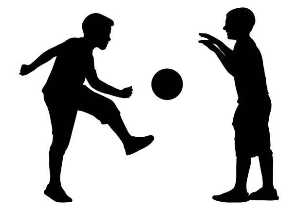 Download Best Two Football Boys Isolated Illustrations, Royalty ...