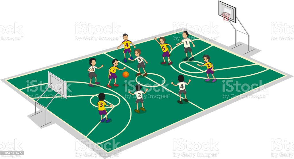 Boys playing basket ball royalty-free boys playing basket ball stock vector art & more images of activity