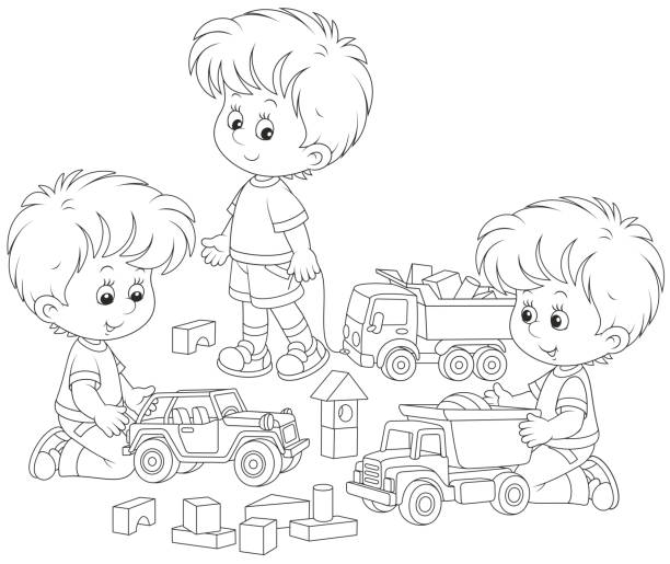 Best Child Toy Car Illustrations Royalty Free Vector Graphics