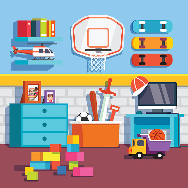Royalty Free Kids Room Clip Art, Vector Images