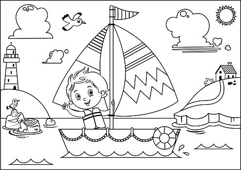 Boy's Sailing Adventure.