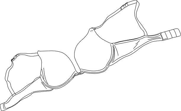 Bra A line drawing of a bra. bra stock illustrations